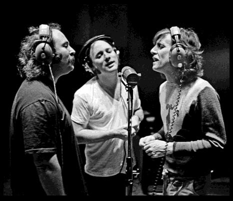 CSN at Criteria Recording Studios, 1977 (Joel Bernstein)