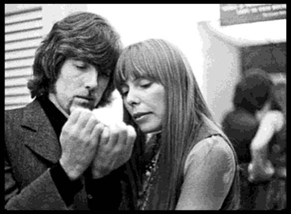 Graham with Joni, backstage at Carnegie Hall, February 1, 1969 (Joel Bernstein)